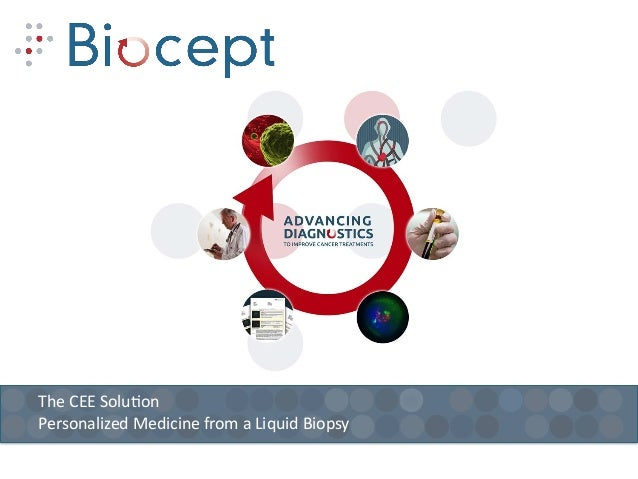 The  CEE  Solu+on   Personalized  Medicine  from  a  Liquid  Biopsy