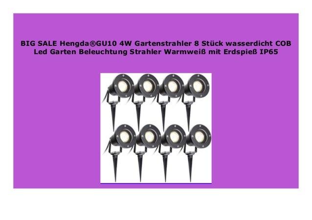 8 GU10 4W wasserdicht COB Led Garten Beleuchtung Strahler Warmweiß Erdspieß IP65