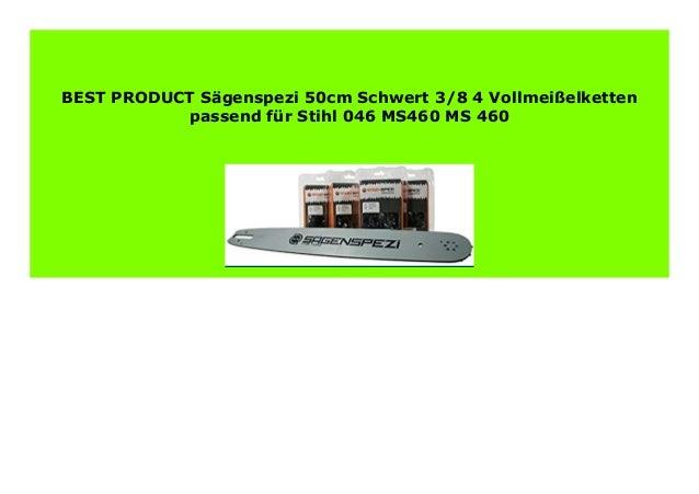 50cm Schwert 3//8 2 Ketten für Stihl 046 MS460 MS 460