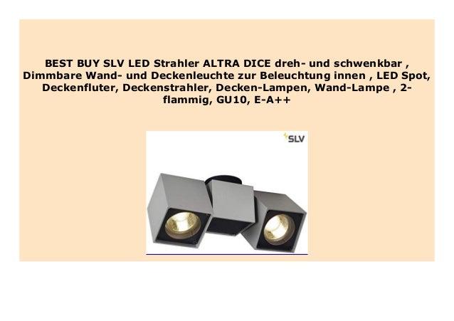 Deckenstrahler 2 flammig Spots schwenkbar GU10 Deckenbeleuchtung modern