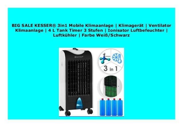 KESSER® 3in1 Mobile Klimaanlage Ventilator Klimagerät Luftkühler Luftbefeuchter
