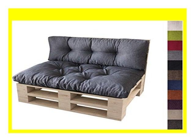 Palettenkissen Set Sitzkissen /& Rückenkissen Polster Auflage Palettenpolster