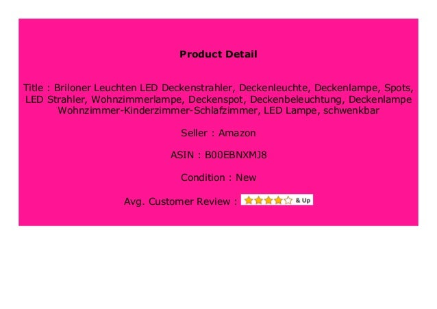 Best Product Briloner Leuchten Led Deckenstrahler