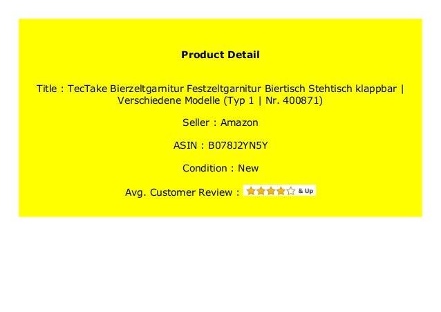 Typ 1   Nr. 400871 TecTake Bierzeltgarnitur Festzeltgarnitur Biertisch Stehtisch klappbar Verschiedene Modelle