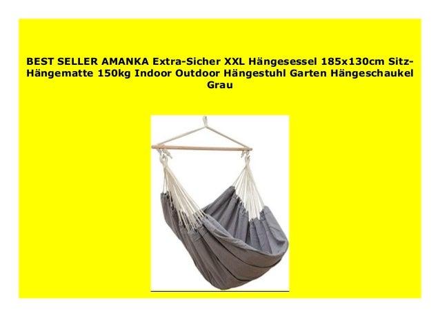 AMANKA Extra-Sicher XXL Hängesessel 185x130cm Sitz-Hängematte 150kg Indoor Ou...