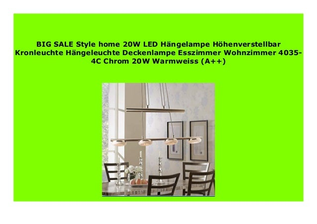 BIG SALE Style home 10W LED H ngelampe H henverstellbar