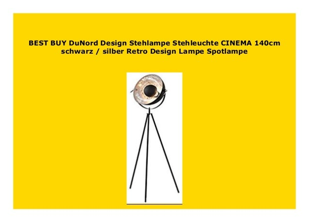 Stehlampe Stehleuchte CINEMA 140cm schwarz silber Retro Design Lampe Spotlampe
