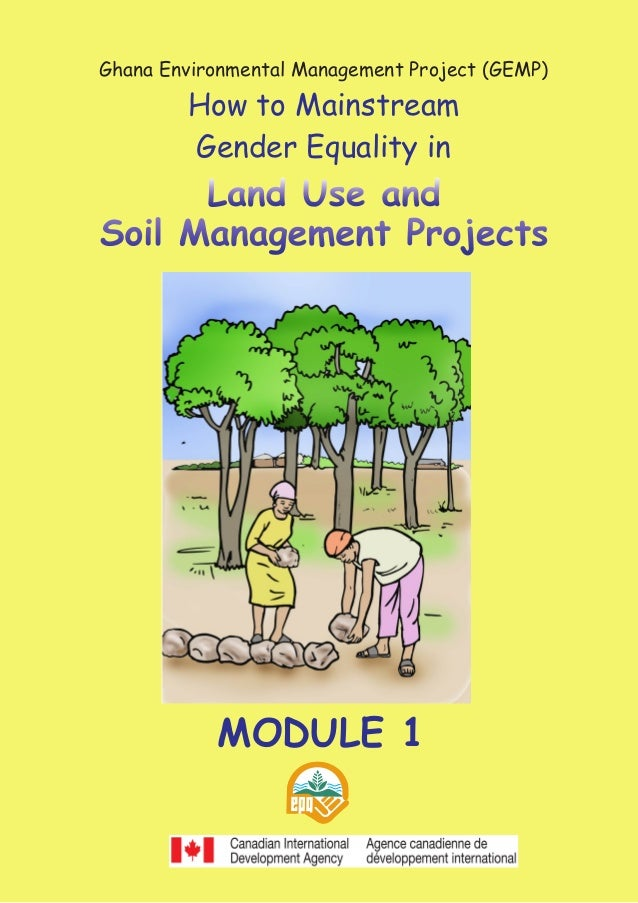 1gender and land use and soil management projects