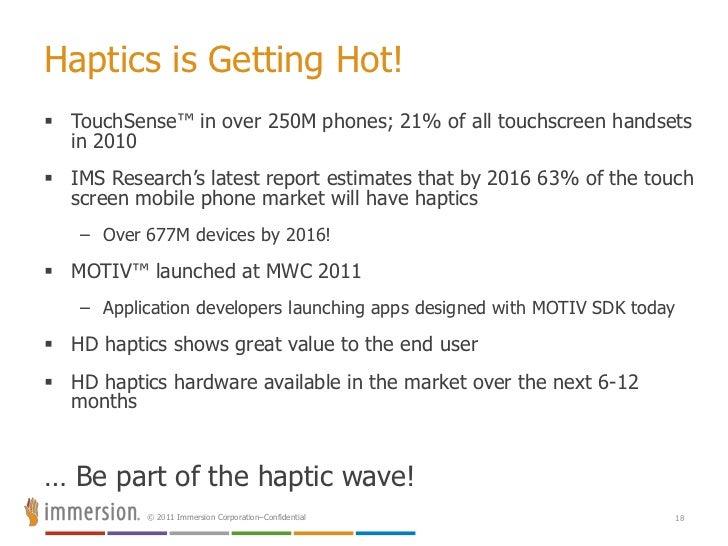 TouchSense™ Solutions<br />No value<br />Low value<br />Medium value<br />High value<br />TS3000 <br />Advanced Haptics<br...