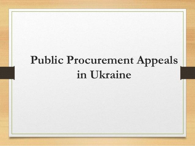 Public Procurement Appeals in Ukraine