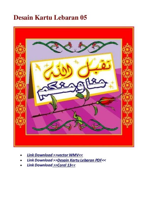 Desain Kartu Lebaran Vector - Gallery Islami Terbaru