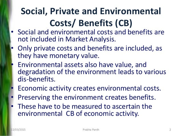 private cost benefit analysis