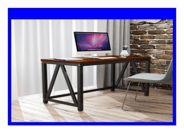 Best Price Dewel Modern Computer Desk 47 Large Office Desk Computer
