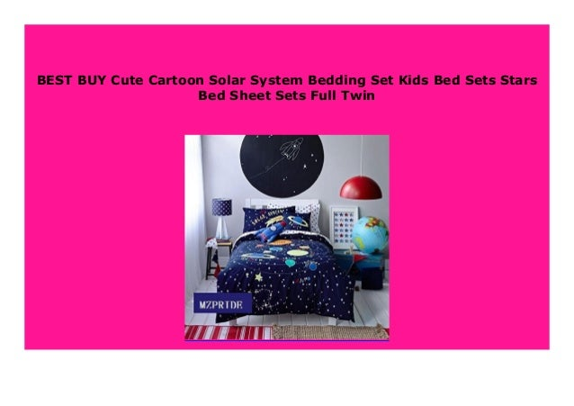 Sell Cute Cartoon Solar System Bedding Set Kids Bed Sets Stars Bed S