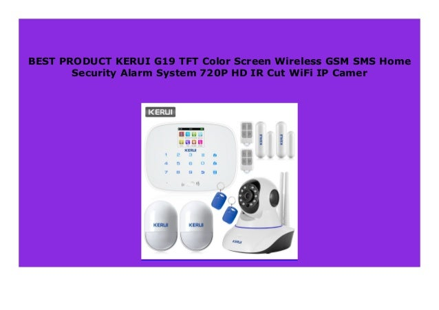 Best Price Kerui G19 Tft Color Screen Wireless Gsm Sms Home Security