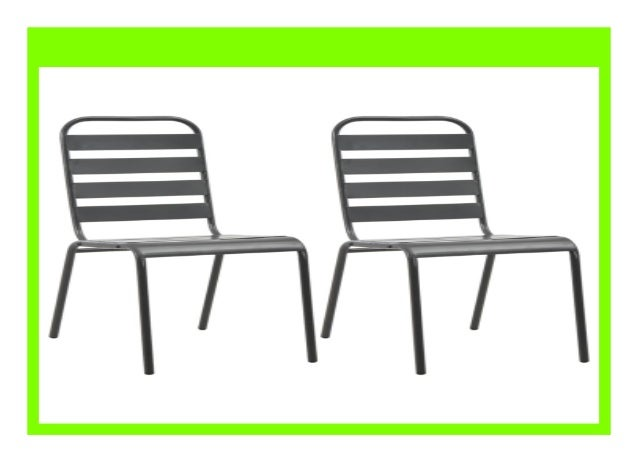 New Modern Classic Metal Stackable Outdoor Dining Chair Classic Stee