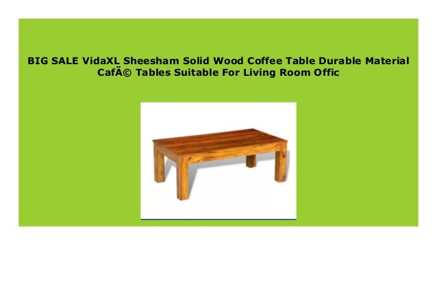 Sell Vidaxl Sheesham Solid Wood Coffee Table Durable Material Cafe T