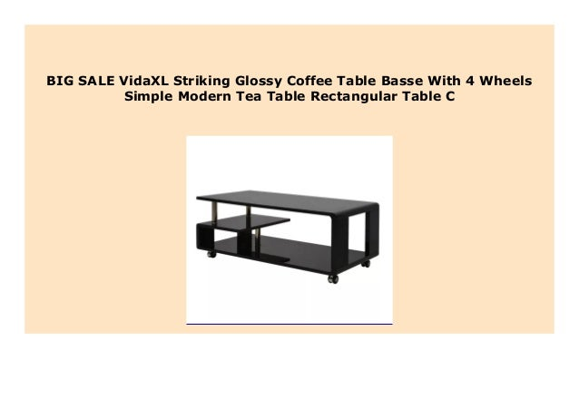 New Vidaxl Striking Glossy Coffee Table Basse With 4 Wheels Simple M
