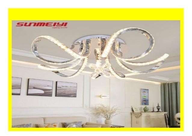 Big Sale New Led Ceiling Lights Fixture Flowers Crystal Decor Plafon