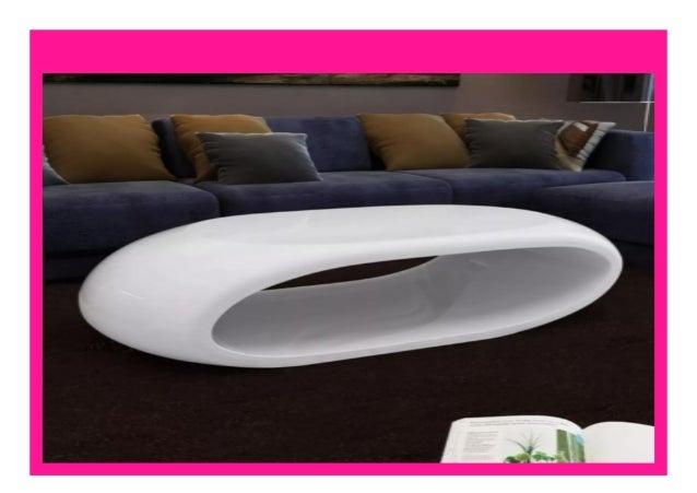 Big Sale Vidaxl Solid High Gloss Coffee Table Fashion Shiny White Co