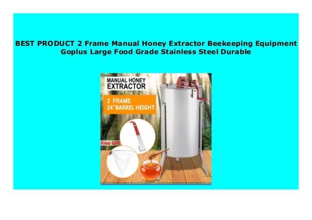 Goplus Large 2 Frame Honey Extractor Beekeeping Equipment Stainless Steel New