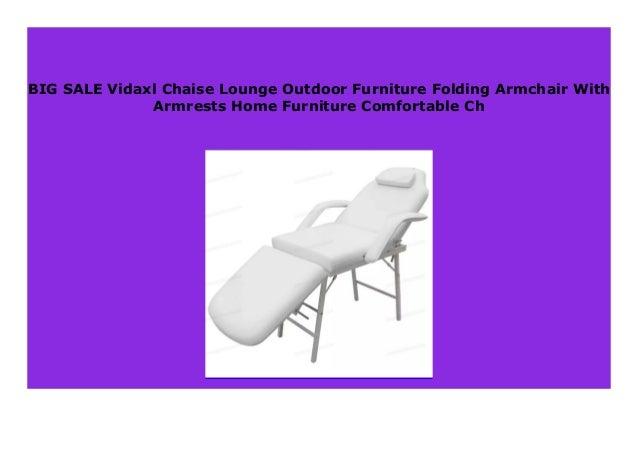 Best Seller Vidaxl Chaise Lounge Outdoor Furniture Folding Armchair
