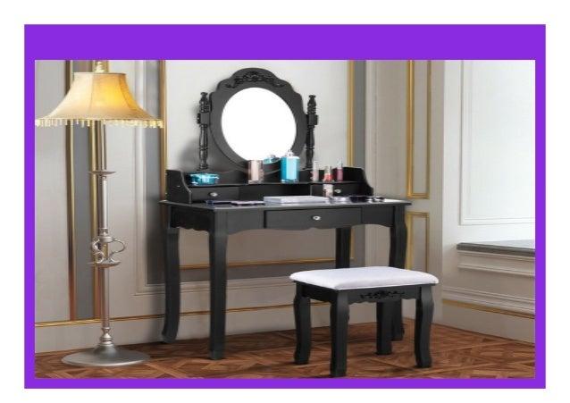Big Discount 3 Drawer Mirror Makeup Dressing Table Stool Set ...