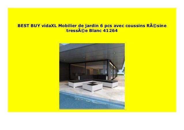 HOT SALE vidaXL Mobilier de jardin 6 pcs avec coussins ...