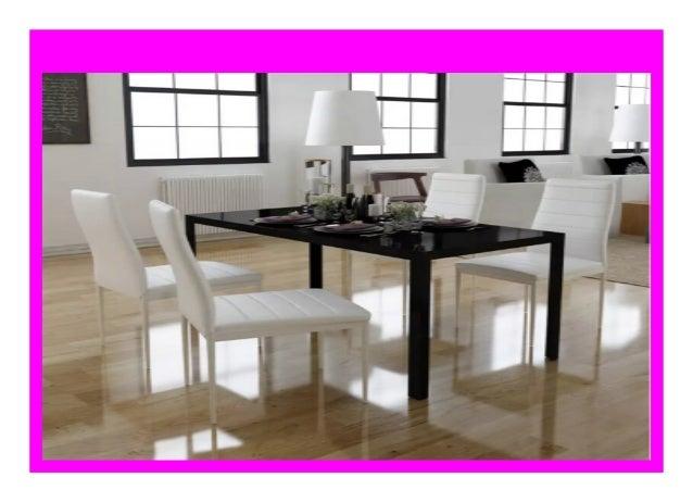 Best Price Vidaxl Modern Design 5pcs Dining Table Set White Chairs A