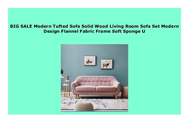 Awesome Sell Modern Tufted Sofa Solid Wood Living Room Sofa Set Creativecarmelina Interior Chair Design Creativecarmelinacom