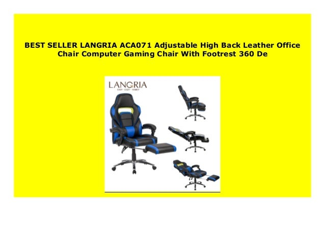 Remarkable Sell Langria Aca071 Adjustable High Back Leather Office Machost Co Dining Chair Design Ideas Machostcouk