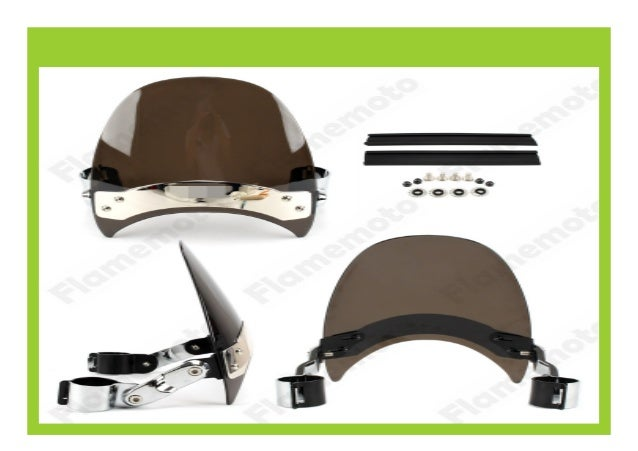 Small Windscreen Windshield For Harley Dyna Wide Super Low Glide XL883 1200 BLK