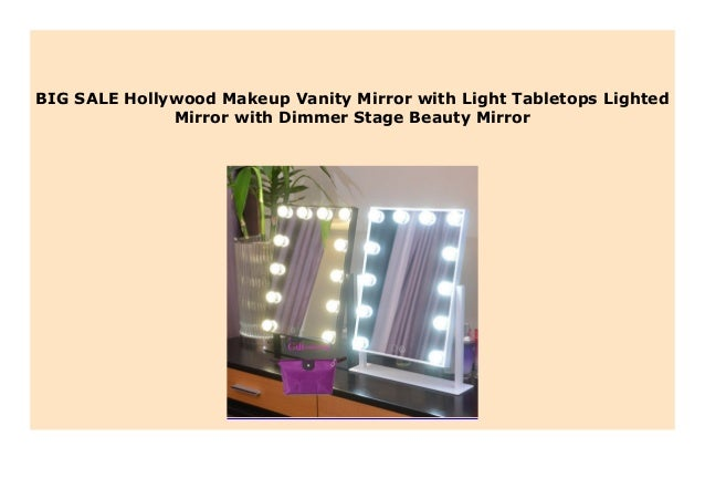Sell Hollywood Makeup Vanity Mirror With Light Tabletops Lighted Mir