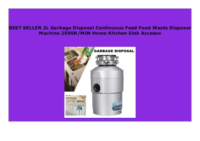 New 2l Garbage Disposal Continuous Feed Food Waste Disposer Machine