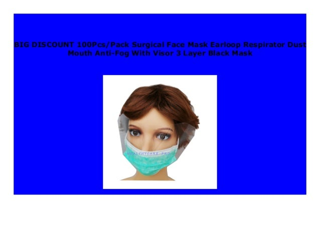3 layer mask surgical black