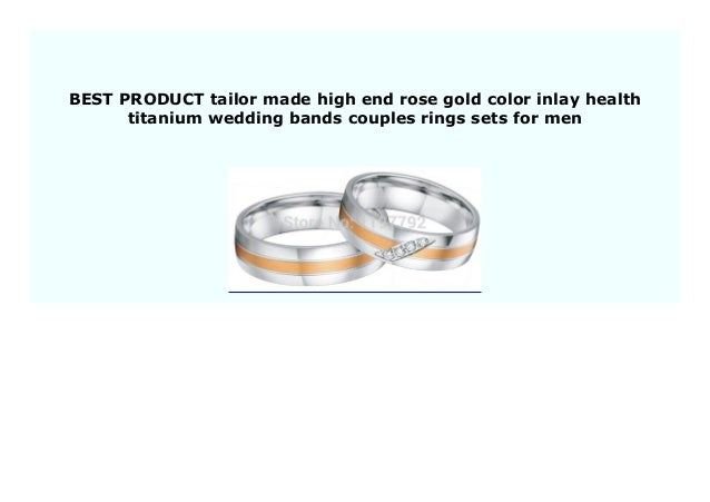 Best Price Tailor Made High End Rose Gold Color Inlay Health Titaniu