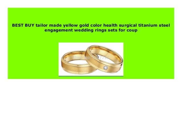 New Tailor Made Yellow Gold Color Health Surgical Titanium Steel Eng