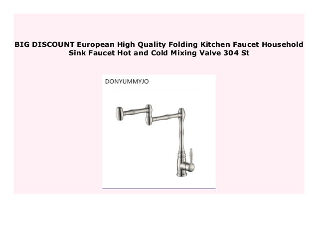 Discount European High Quality Folding Kitchen Faucet Household Sink