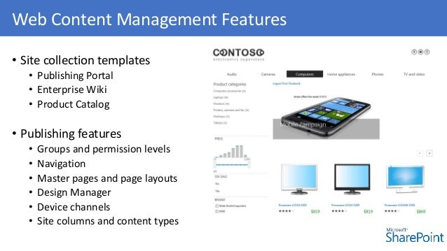 Sharepoint wcm 2013 for Sharepoint 2013 product catalog site template