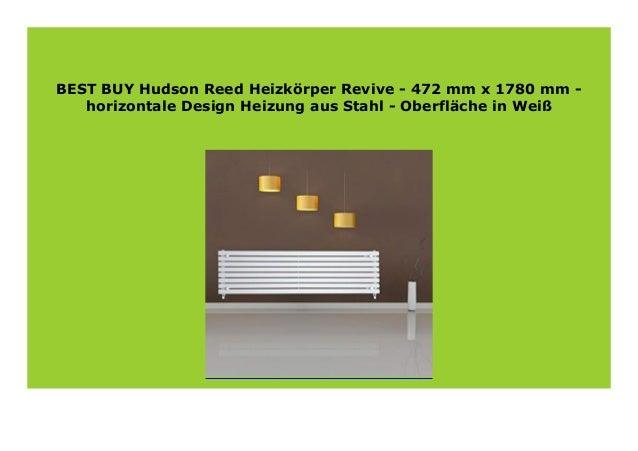 Hudson Reed Heizk/örper Revive Oberfl/äche in Wei/ß horizontale Design Heizung aus Stahl 472 mm x 1780 mm