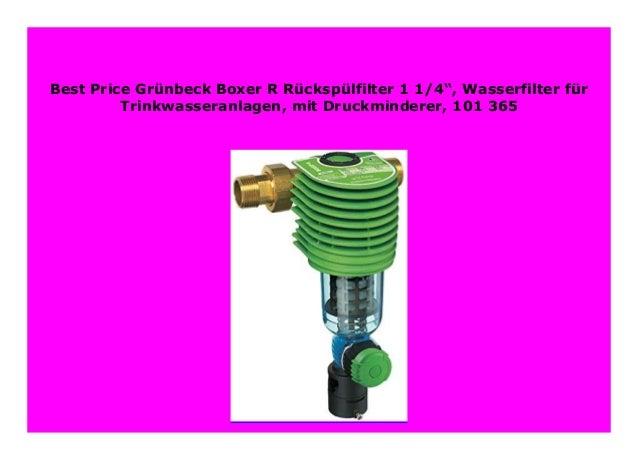 Best Price Gr Nbeck Boxer R R Cksp Lfilter 1 1 4
