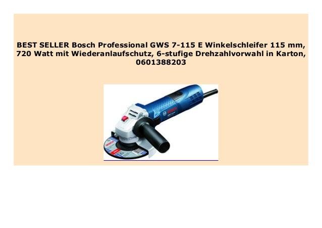 Bosch Professional Winkelschleifer GWS 7-115 E mit Wiederanlaufschutz
