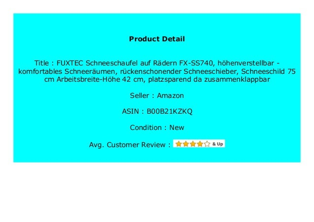 DISCOUNT FUXTEC Schneeschaufel auf R dern FX-SS740, h ...