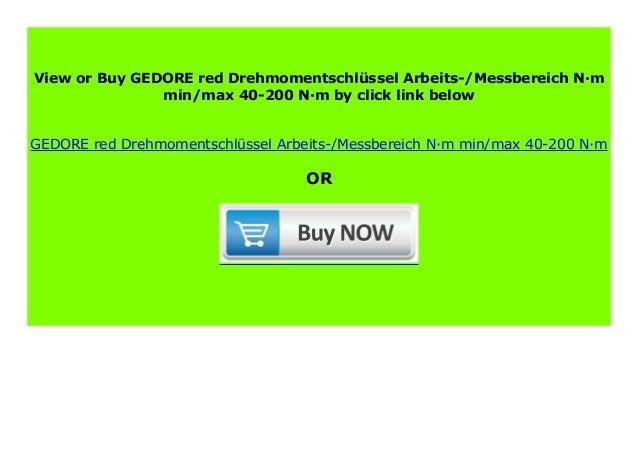 GEDOREred Drehmomentschlüssel Arbeits-//Messbereich N·m 40-200 N·m min//max