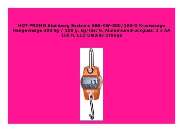 Steinberg Systems SBS-KW-300AG Kranwaage 300 kg//100 g LCD Aluminiumguss gelb