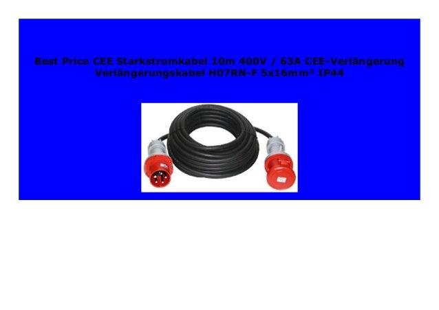 CEE Verl/ängerungskabel Kabel 400V 63A IP67 wasserdicht Starkstromkabel 5x10mm2 Doktorvolt/® 5m