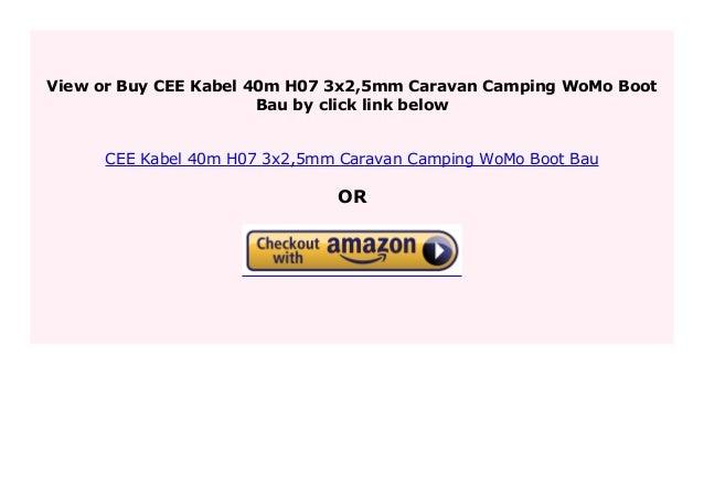 CEE Camping kabel 40m H07 3x2,5mm Caravan WoMo Boot Bau