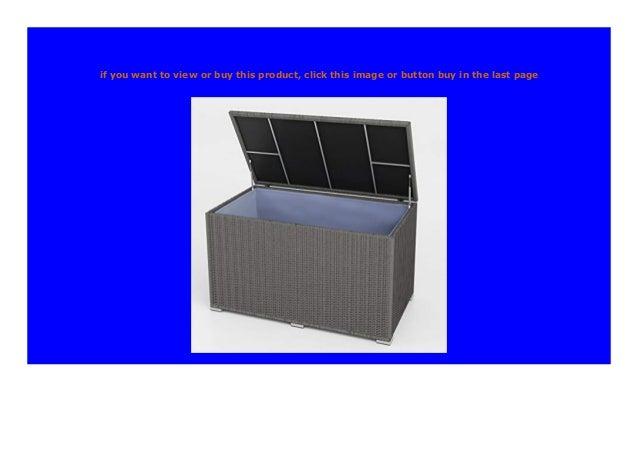 XXL Kissenbox Polyrattan 950L Auflagenbox Gartenbox Gartentruhe Aufbewahrungsbox