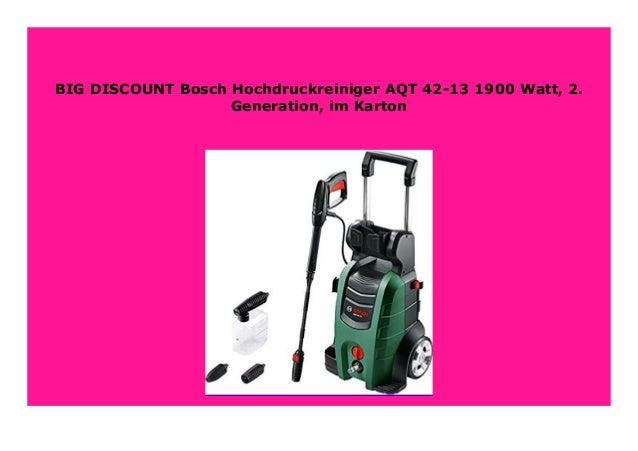 Bosch Hochdruckreiniger AQT 42-13 1900 Watt, 2. Generation, im Karton