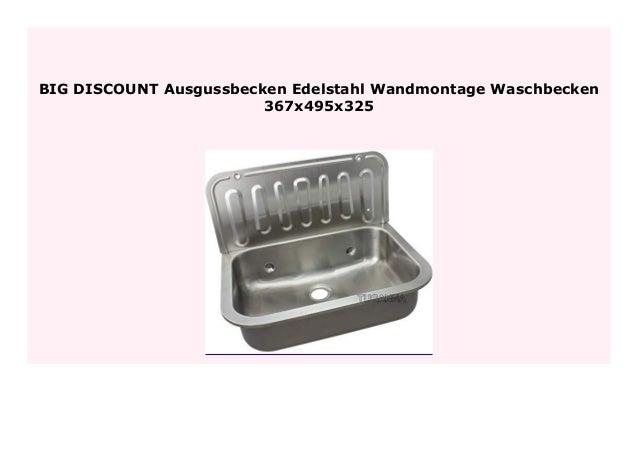 HOT SALE Ausgussbecken Edelstahl Wandmontage Waschbecken